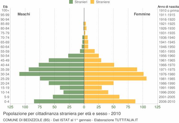 Grafico cittadini stranieri - Bedizzole 2010