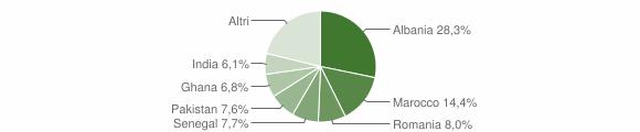 Grafico cittadinanza stranieri - Calcinato 2008