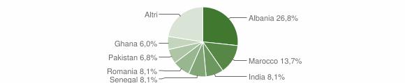 Grafico cittadinanza stranieri - Calcinato 2010