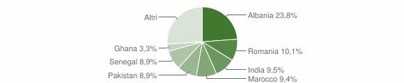 Grafico cittadinanza stranieri - Calcinato 2019
