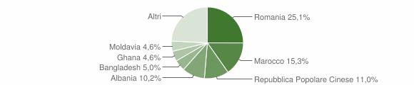 Grafico cittadinanza stranieri - Monzambano 2011