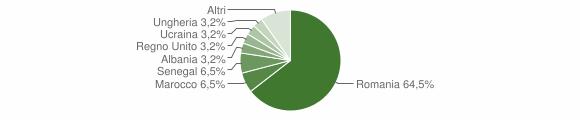 Grafico cittadinanza stranieri - Robecco Pavese 2019