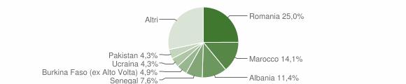Grafico cittadinanza stranieri - Torre de' Roveri 2019
