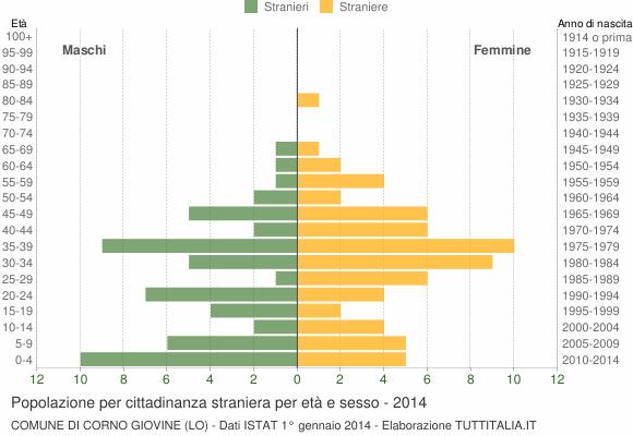 Grafico cittadini stranieri - Corno Giovine 2014