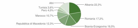 Grafico cittadinanza stranieri - Esine 2014