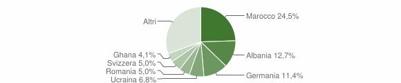 Grafico cittadinanza stranieri - Germignaga 2009