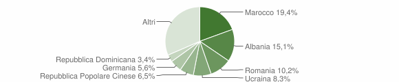 Grafico cittadinanza stranieri - Germignaga 2019