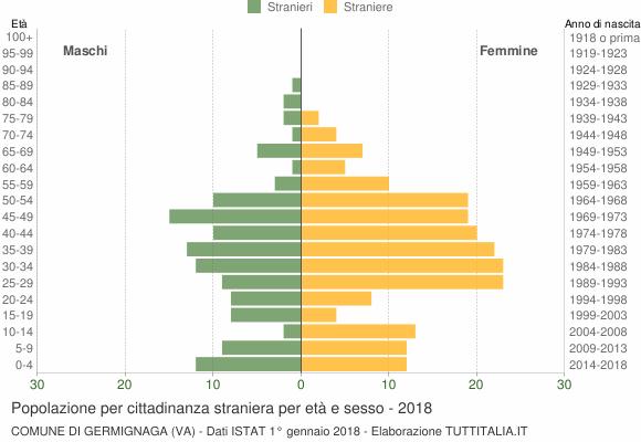 Grafico cittadini stranieri - Germignaga 2018
