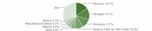 Grafico cittadinanza stranieri - Mapello 2019