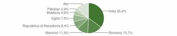 Grafico cittadinanza stranieri - Robecco d'Oglio 2013