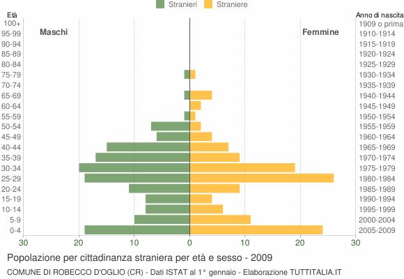 Grafico cittadini stranieri - Robecco d'Oglio 2009