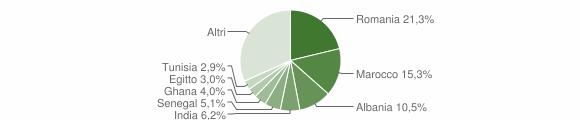 Grafico cittadinanza stranieri - Terno d'Isola 2019
