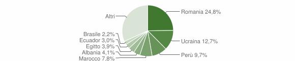 Grafico cittadinanza stranieri - Vanzago 2018