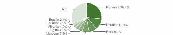 Grafico cittadinanza stranieri - Vanzago 2019