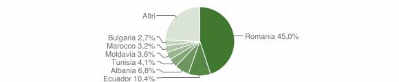Grafico cittadinanza stranieri - Dresano 2019
