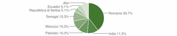 Grafico cittadinanza stranieri - Luzzana 2010