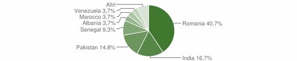 Grafico cittadinanza stranieri - Luzzana 2018