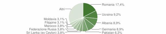 Grafico cittadinanza stranieri - Padenghe sul Garda 2019