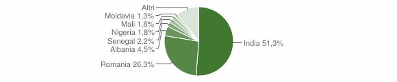 Grafico cittadinanza stranieri - Rivarolo del Re ed Uniti 2019