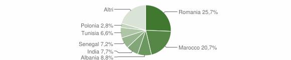Grafico cittadinanza stranieri - Bariano 2009