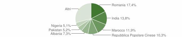 Grafico cittadinanza stranieri - Castiglione delle Stiviere 2019