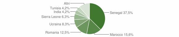 Grafico cittadinanza stranieri - Colzate 2013