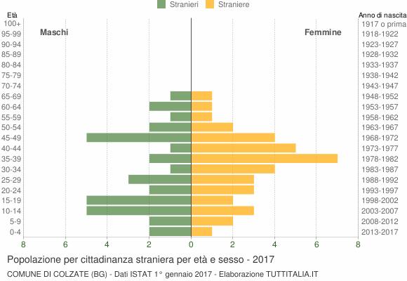 Grafico cittadini stranieri - Colzate 2017