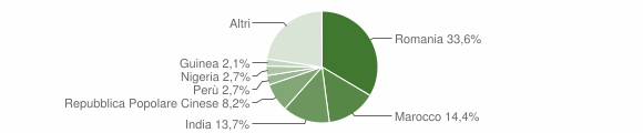Grafico cittadinanza stranieri - Montodine 2019