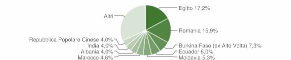 Grafico cittadinanza stranieri - Vercurago 2019