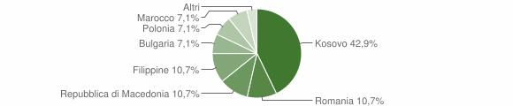 Grafico cittadinanza stranieri - Ussita 2010