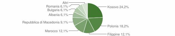 Grafico cittadinanza stranieri - Ussita 2011