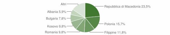 Grafico cittadinanza stranieri - Ussita 2013