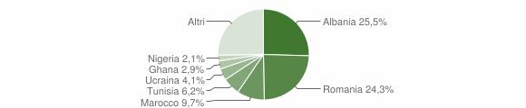 Grafico cittadinanza stranieri - Castelfidardo 2019