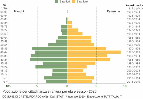 Grafico cittadini stranieri - Castelfidardo 2020