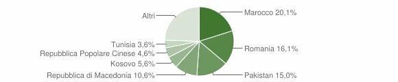 Grafico cittadinanza stranieri - Filottrano 2011