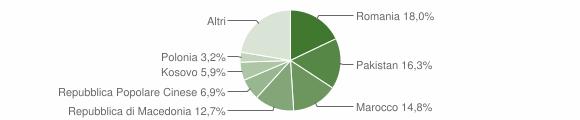 Grafico cittadinanza stranieri - Filottrano 2015