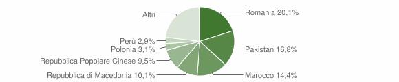 Grafico cittadinanza stranieri - Filottrano 2019