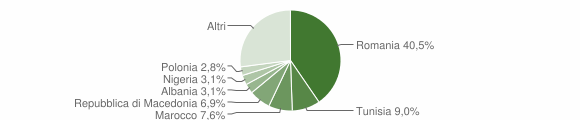 Grafico cittadinanza stranieri - Monte San Vito 2014