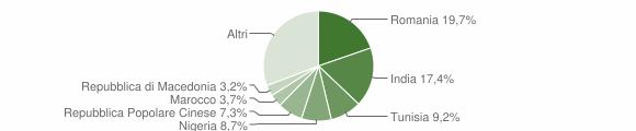 Grafico cittadinanza stranieri - Rosora 2017