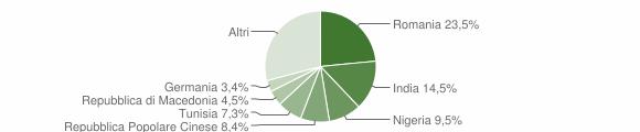 Grafico cittadinanza stranieri - Rosora 2019