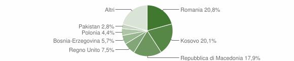 Grafico cittadinanza stranieri - Sarnano 2019