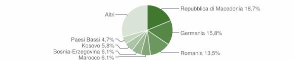 Grafico cittadinanza stranieri - Arcevia 2009