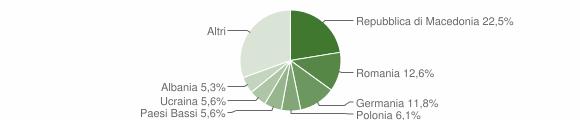 Grafico cittadinanza stranieri - Arcevia 2014