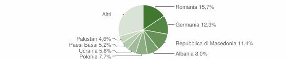 Grafico cittadinanza stranieri - Arcevia 2017