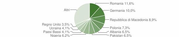 Grafico cittadinanza stranieri - Arcevia 2019