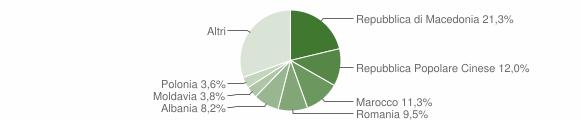 Grafico cittadinanza stranieri - Montecassiano 2010