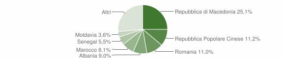 Grafico cittadinanza stranieri - Montecassiano 2013
