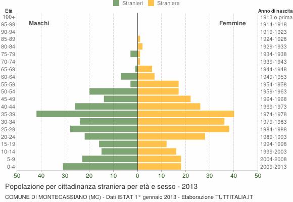 Grafico cittadini stranieri - Montecassiano 2013