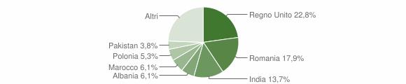 Grafico cittadinanza stranieri - San Ginesio 2019