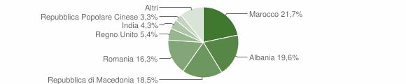 Grafico cittadinanza stranieri - Ripe San Ginesio 2009